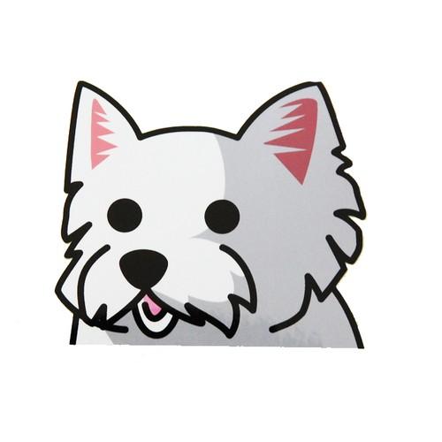 ウエストハイランドホワイトテリア(大) 犬ステッカー