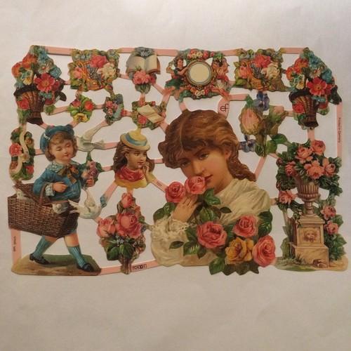 ドイツ クロモス lady and flowers