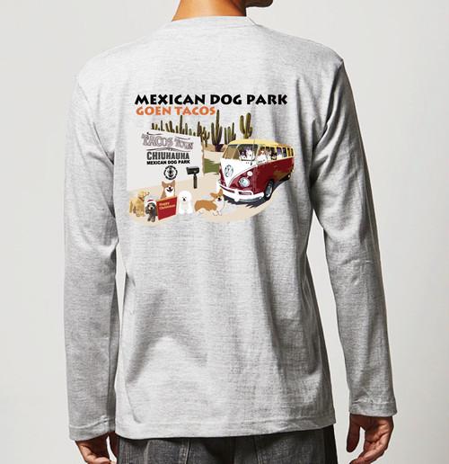 No.2020-welshcorgi-longts010  : 長袖Tシャツ 5.6oz  メキシカンドッグパークのコーギーのタコス屋さん