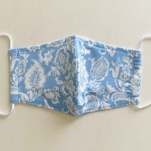 洗える布マスク 美形立体縫製 ボタニカルプリント コットン&レーヨン 日本製