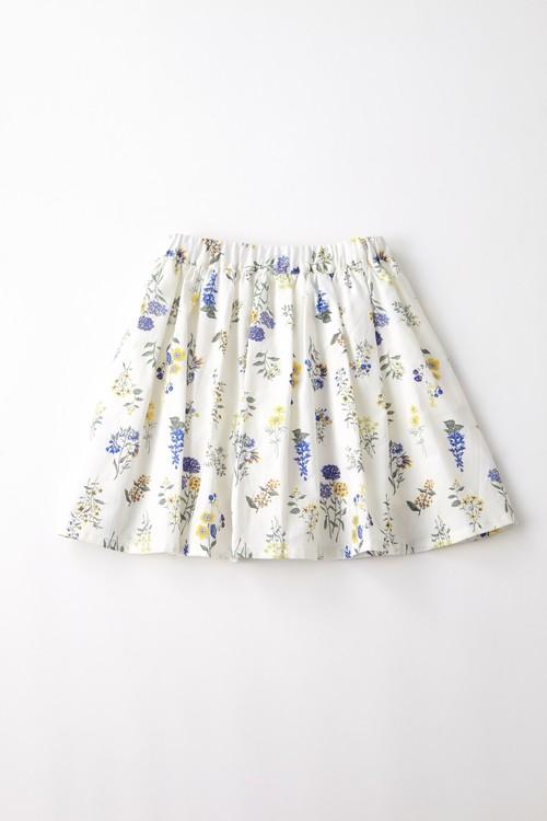 インナー付き ボタニカルフラワープリントスカート