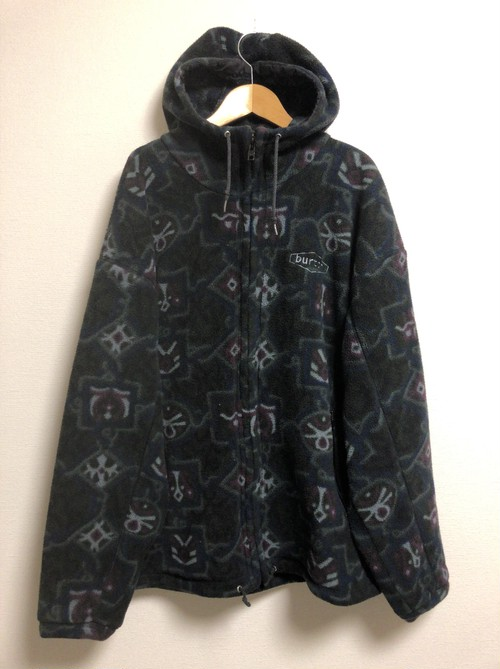 late90's〜early2000's burton psychedelic trance fleece parka