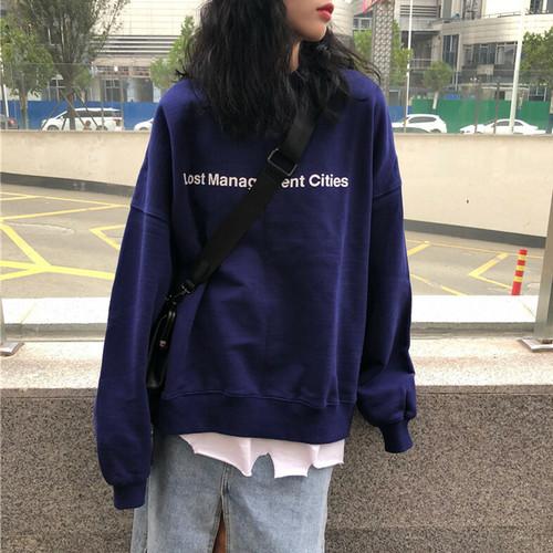 【トップス】ファッションなレタープリントプルオーバー22756631
