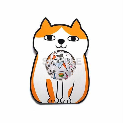 猫ステッカー B