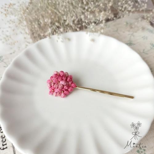 """七つ花のヘアピン""""チェリッシュ""""*刺繍糸のお花"""