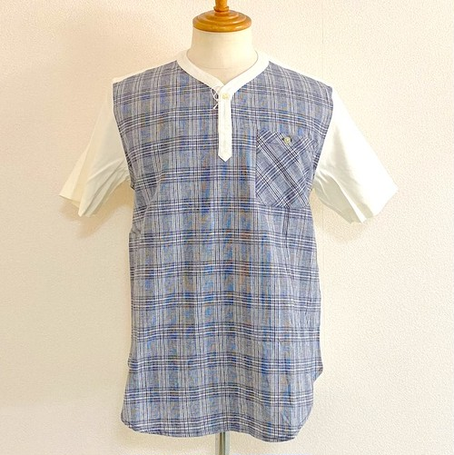 Switch Pullover Shirts Navy Check / White