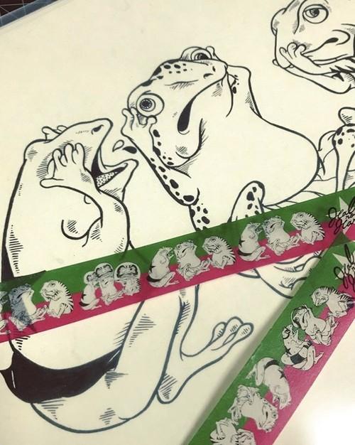 カエルさんマスキングテープ