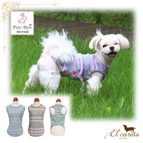 8。Petit Bijou【正規輸入】犬 服 Tシャツ ストライプ 春 夏 秋物