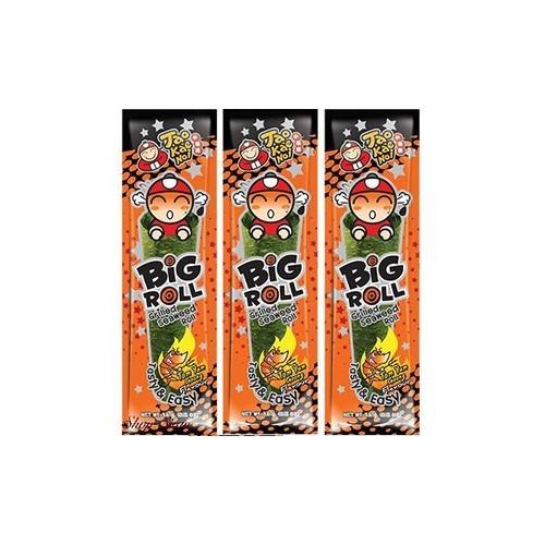 タオケーノイ 味付のり ビックロール トムヤムクン味/Tao Kae Noi Big Roll Seaweed Tom Yum Goong Japanese Style 9g×10袋