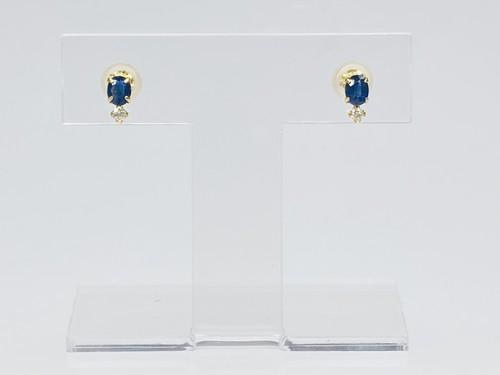 K18 ブルーサファイアピアス ●
