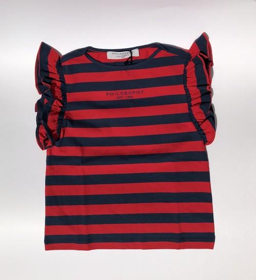 Philosophy ボーダーTシャツ 12才(L)~XL フィロソフィ