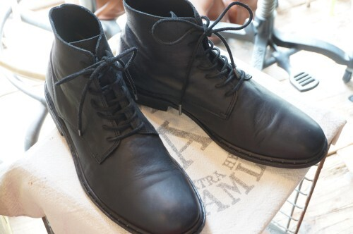"ALLSAINTS black lace-up Boots ""Made in PORTUGAL"""