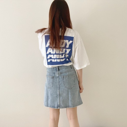 denim mini skirt[6/17n-34]