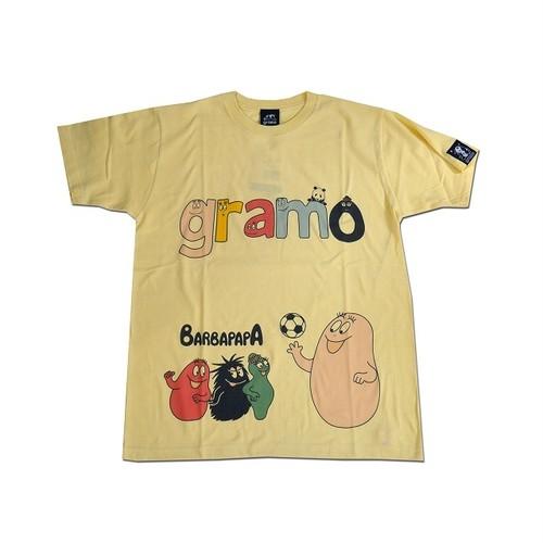 BARBAPAPA×gramo コラボ Tシャツ「lesson-T」(ライトイエロー/T-019) ※S~Lサイズ