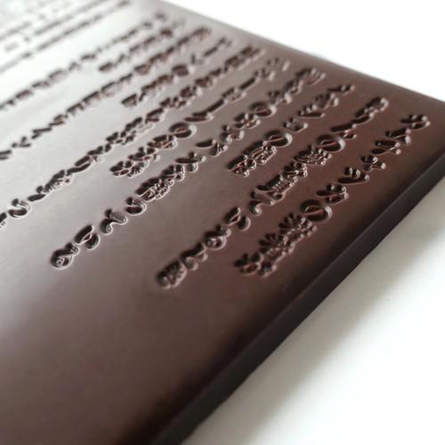 谷川俊太郎「朝のリレー」チョコレート