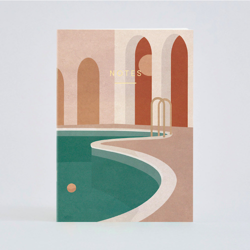 WRAP / POOL WITH ARCHES NOTEBOOK -Illustrated by Charlotte Taylor- A5ノート