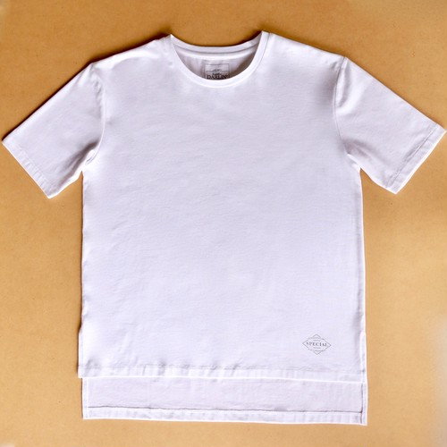 Drop shoulder white Tシャツ