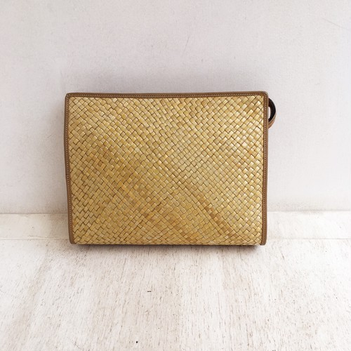 Vintage ITALY straw clutch bag