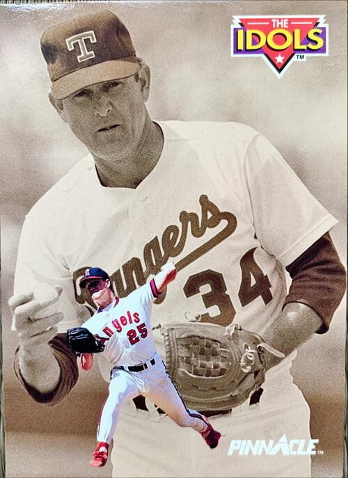 MLBカード 92PINNACLE Nolan Ryan & Jim Abbott #281 RANGERS & ANGELS