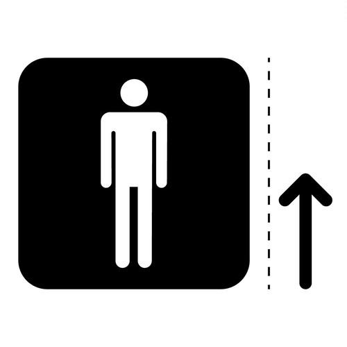 男性トイレ標識のカッティングステッカーシール