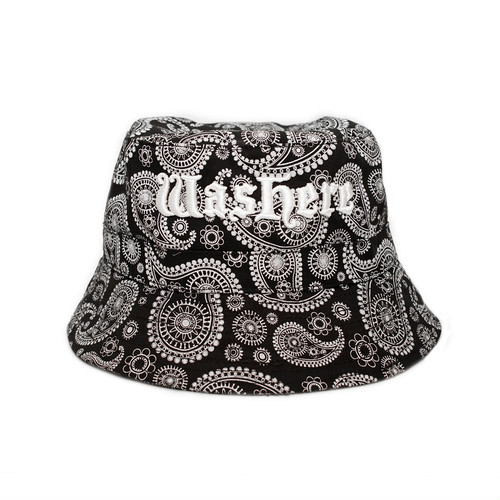 WasHere PAISLEY BUCKET HAT (BLACK)