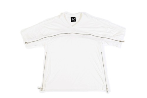 Front Zip T-Shirts (White)