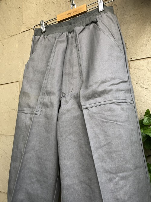 Deadstock 1950-60s British gray color trousers