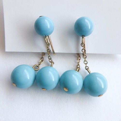 """Richelieu"" turquoise dangle earring[e-1145]"