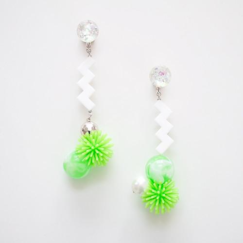 Neo Eccentric earrings -sea anemones-