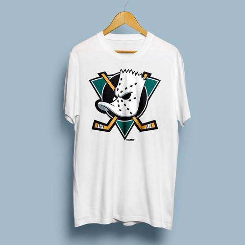 "THUMBS""Bart x Mighty Ducks T-Shirt White"""