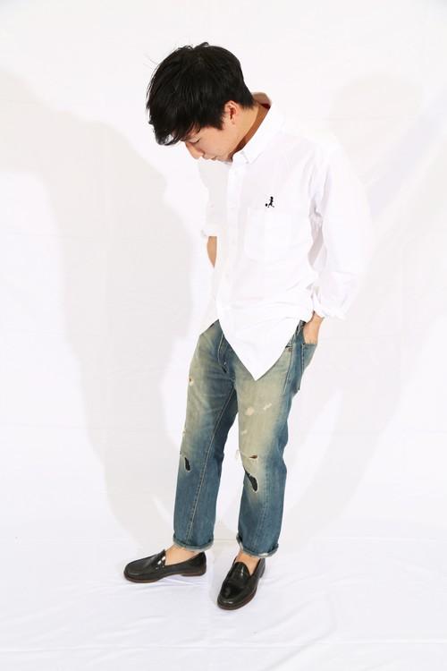 20023 OSAMUオックスフォードボタンダウンシャツ WHT