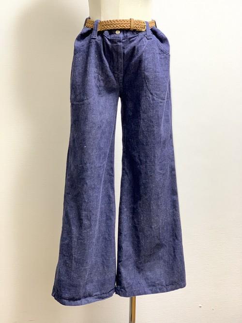 Vintage Wide Leg Denim Pants ①