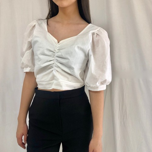 puff sleeve blouse (1col)