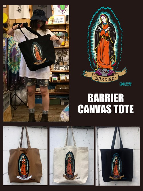 「Barrier」CANVAS TOTE BAG (3colours)