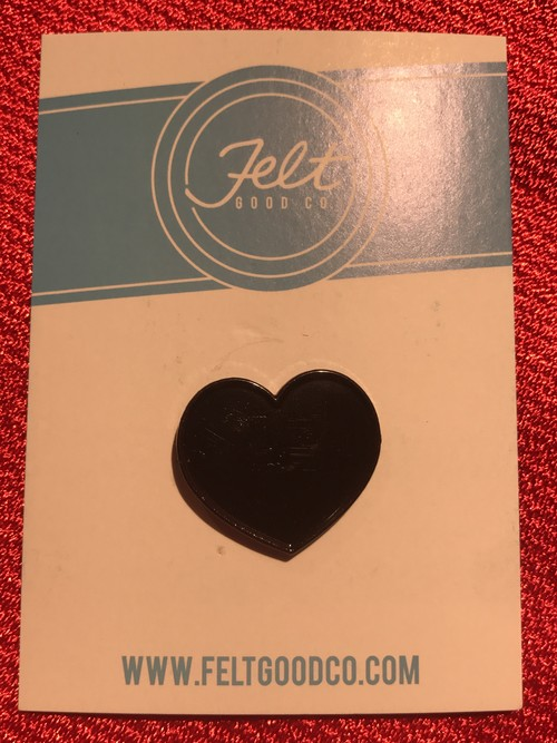 "FELT GOOD CO""Black Hearts Enamel Pin"""