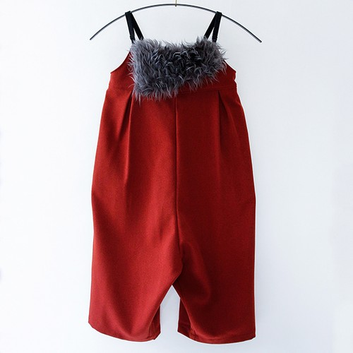 Saroual salopette     kids    S(90-100)    Red