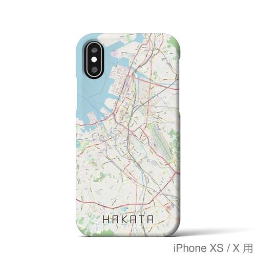 【博多】地図柄iPhoneケース(バックカバータイプ・ナチュラル)