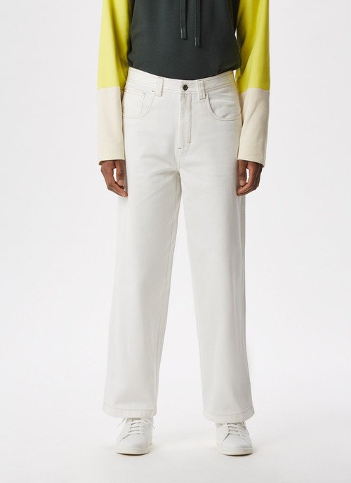 FIVE-POCKET COTTON TWILL TROUSERS