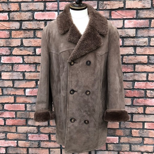 Vintage An Aristocrat By Morlands Sheepskin Duble UK42Breasted Coat