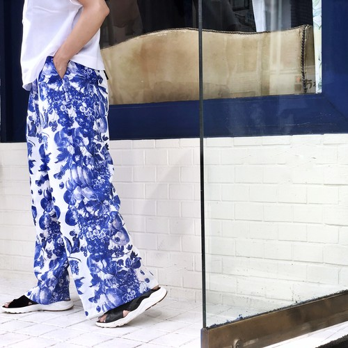 EASY WIDE PANTS/BLUEBERRY