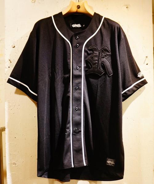 RAKUGAKI BaseBall Shirts Black × Black