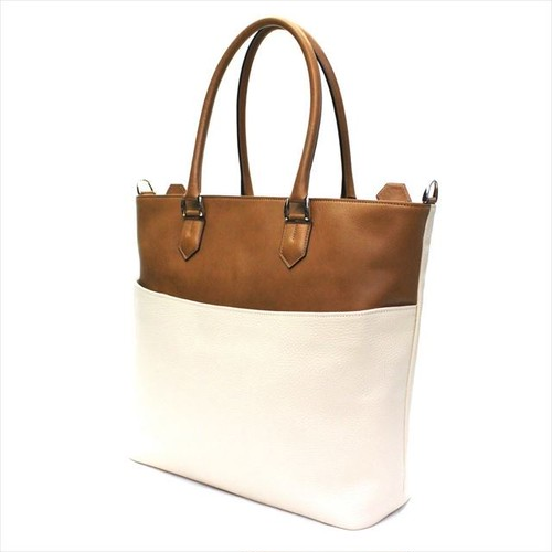 FIVE WOODS 「HORIZON」 TOTE <IVORY×TAUPE>