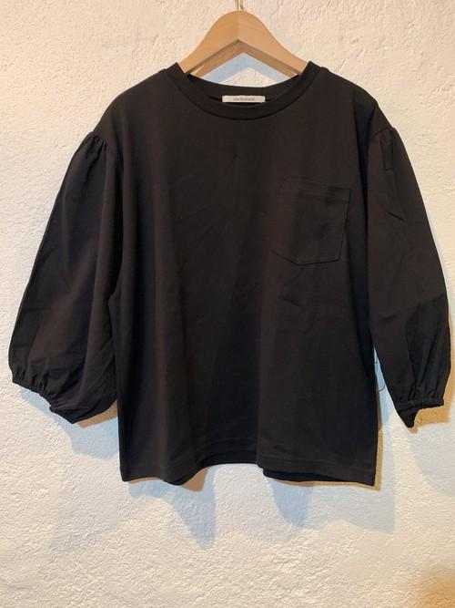 nachukara/ドッキング7分袖プルオーバー ブラック