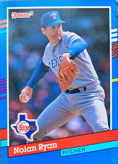 MLBカード 91DONRUSS Nolan Ryan #89 RANGERS