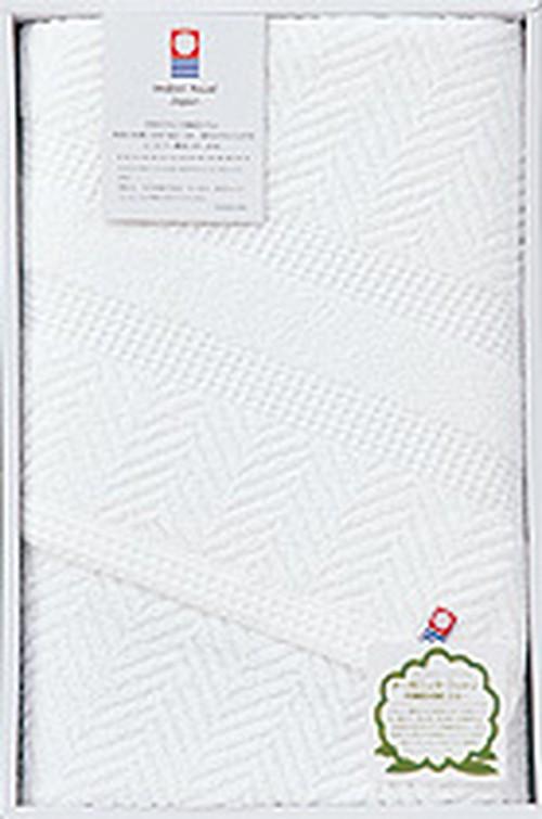 今治オーガニックバスタオル白1枚(箱入り)×20セット