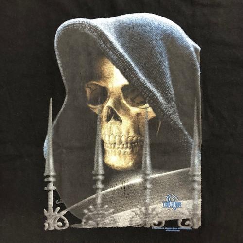 90's ビンテージ スカルTシャツ 黒 ブラック 髑髏 ドクロ Lサイズ