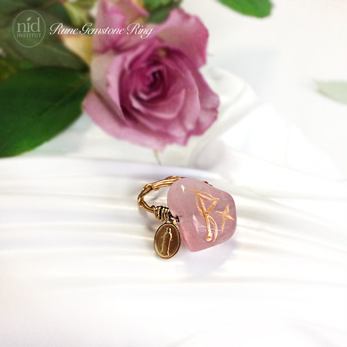 Rune Rose Quartz Ring_Love