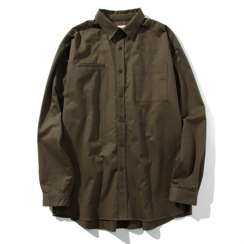 brushed face relax shirt(olive drab)