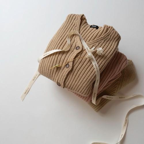【即納】rib knit cardigan