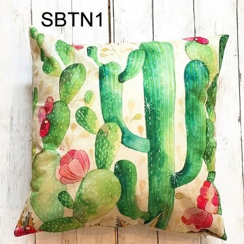 BD-Z-03 ビーチデイズ BEACH DAYS クッションカバー 枕カバー ラッピング無料 サボテン 緑 正方形